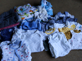 FREE large bundle of baby boy clothes