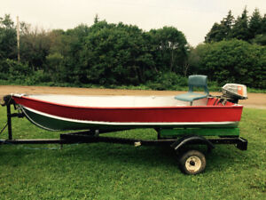 12ft Aluminum boat, motor and trailer