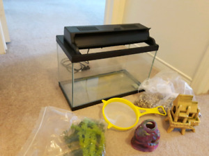 Fish Tank and Acc 5 Gallon
