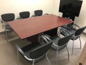 Office Furniture SALE - Boardroom Table + 6 Chairs
