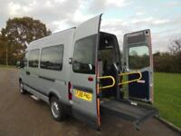 2006 56 RENAULT MASTER 2.5DCI MWB WHEEL CHAIR ACCESSIBLE DISABLED BUS 55000 M