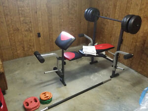 Home gym - Weider Bench Pro 256 - Extra Bar and wheigts + Gift