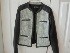 Zara Faux Leather and Fabric Jacket - XS Fit - NEW!