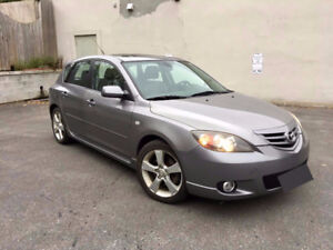 2006 Mazda3 Sport GT + winter tires on alloy rims