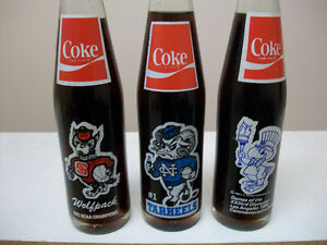 10 oz assorted coke cola collector bottles