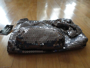 Brand new with tag set of 2 silver sequin bow front clutch purse London Ontario image 2