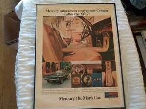 OLD MERCURY COUGAR CLASSIC CAR ADS Windsor Region Ontario image 3