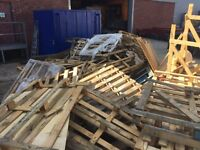 Free broken pallets fire wood upcycle