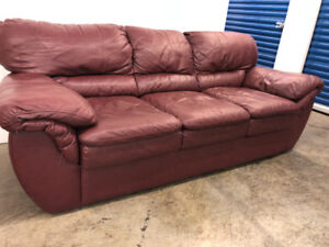 Burgundy COUCH - delivery