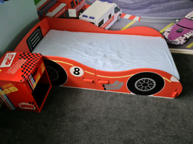 Kids bed and bedside cabinet