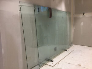 GLASS PARTITION 48 in. wide x 60 in. high