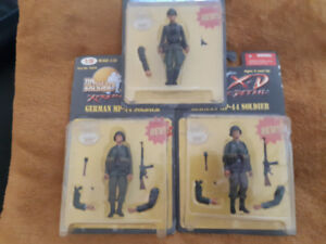 7 Unopened WWII Scale 1.18 German and US Soldiers!
