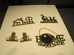 Various brass wall key holders.