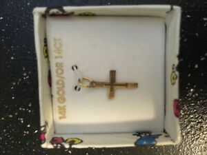 10k Gold Cross Charm