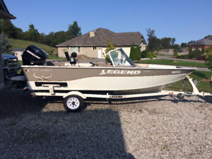 2008 Lgend Xcalibur fishing boat, 16 Ft, 50 HP with trailer.