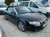 AUDI A4 CABRIOLET 2.0TDI S LINE MANUAL BLACK WITH BLACK LEATHER SERVICE HISTORY