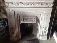 Antique cast iron fire