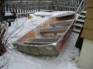 12 ft. aluminum boat sears model in fair shape $450.