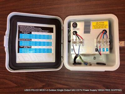 Pelco Wcs1-4 Outdoor Single Output Vac Cctv Power Supply 100va Free Shipping