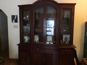 New price! Canadian made cherry wood hutch