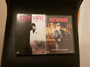 Scarface the original movie + the remake with Al Pacino DVD