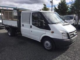 Ford Transit 2.4TDCi D/cab one stop tipper only 74,000 m