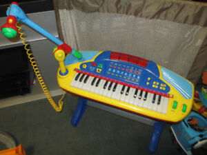 Keyboard with stand and microphone
