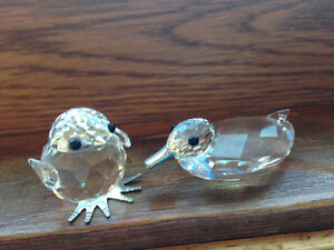 Swarovski Crystal - Little chick and Little duck (teeny tiny)