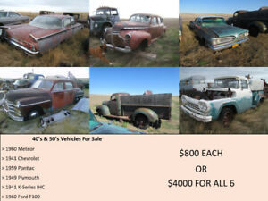 Classic Vehicles - Selling in Lots/Packages