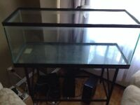 65 gallon tank and metal stand