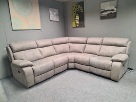 Brand new Corner sofa power recliner