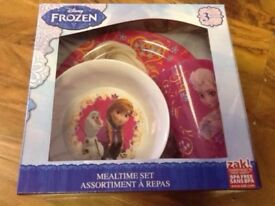 Disney Frozen - 3 Pieces Mealtime Set, Brand New, Unopened