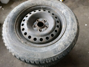 4 x 225/60R16 Bridgestone winter tires + rims 5x114.3 **** * * *