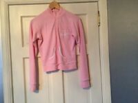 Pineapple Pink Zip Up Jacket Top With Diamanté Detail, Size S/M