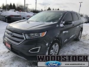 2015 Ford Edge SEL   LEATHER, ROOF, NAVIGATION, BLIS, LOW KM