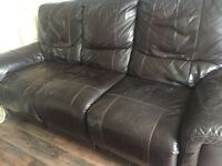 Leather reclining sofa free