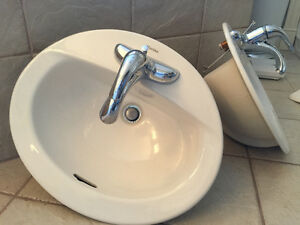 For Sale: Bathroom sinks with faucets