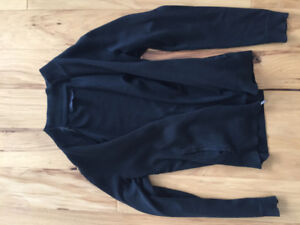 KENNETH COLE BLACK KNIT SWEATER - BLACK MENS SIZE XS