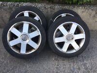 """17"""" alloy wheels 5x112 suit caddy , Jetta , Audi , Leon , Passat ect"""