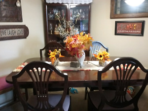Dinning room table and corner hutch