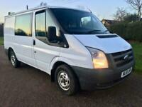2011 61 FORD TRANSIT T280 ** FACTORY CREW CAB 6 SEAT * YEARS TEST * NO VAT