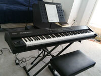 Roland RD 300GX Piano/Keyboard with accessories