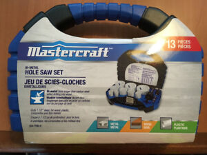 MASTERCRAFT 13 PIECE PLUMBING AND ELECTRICAL HOLE SAW KIT 054-79