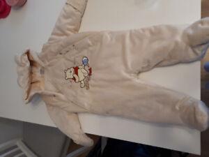New infant boy disney snowsuit