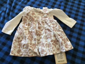 1-3 months shirt and dress - new with tags