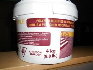 1/2  OF A BUCKET OF POLYMER GROUT Cornwall Ontario image 1