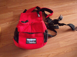 "Red vagabond travel gear front pouch ""back pack"" style pet carri"