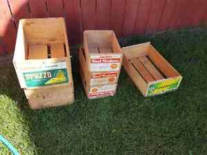 Old wood crates