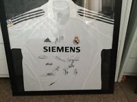 Signed Real Madrid signed shirt