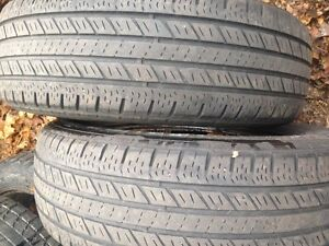"Pair of 185/70/14"" All Season tires,Lots of tread"